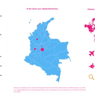 Mapa del Coronavirus en Colombia y en el mundo [EN VIVO]